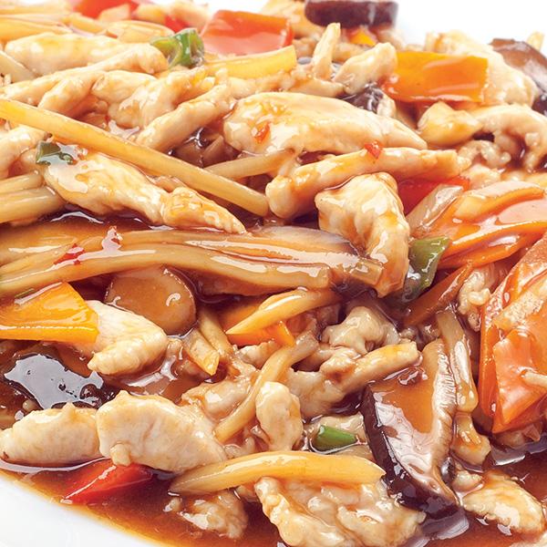 E-5 Kepta vištiena su kiniškais grybais XIANGGU