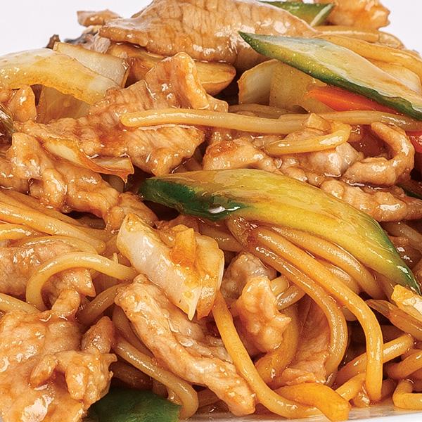 N-9 Kiniški makaronai su kiauliena ir daržovėmis